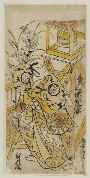 Torii Kiyonobu II: Actor Sanjô Kantarô as Kaneuji - Museum of Fine Arts