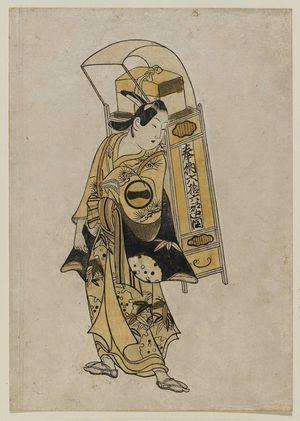 Okumura Toshinobu: Actor Ichikawa Monnosuke I as a pilgrim - Museum of Fine Arts