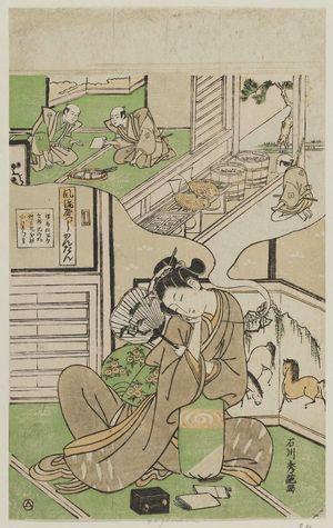 Ishikawa Toyonobu: A Fashionable Parody of the Nô Play Kantan (Fûryû yatsushi Kantan) - Museum of Fine Arts