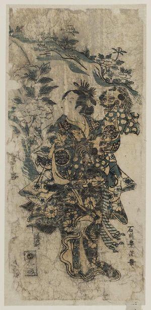 Ishikawa Toyonobu: Actor Nakamura Tomijûrô in the Lion Dance (Shakkyô) - Museum of Fine Arts