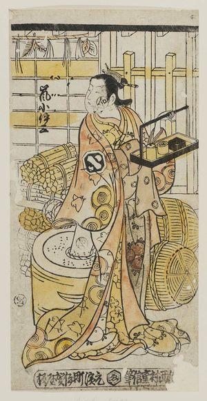 西村重信: Actor Arashi Koisa - ボストン美術館