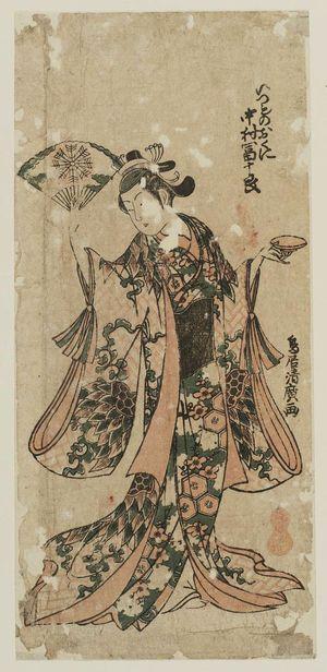 Torii Kiyohiro: Actor Nakamura Tomijûrô as Izumo no Okuni - Museum of Fine Arts