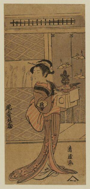 Torii Kiyotsune: Actor Onoe Tamizô - Museum of Fine Arts