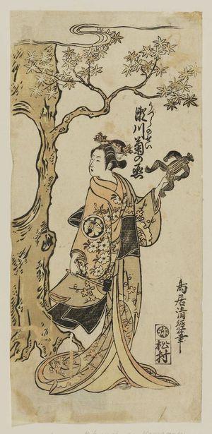 鳥居清経: Actor Segawa Kikunojô II as the Spirit of a Quail (Uzura no Sei) - ボストン美術館