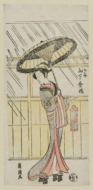 鳥居清経: Actor Yamashita Kinsaku II as Akoya - ボストン美術館