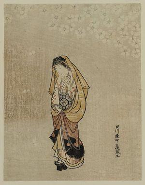 Ishikawa Toyonobu: Young Woman in High Geta - Museum of Fine Arts