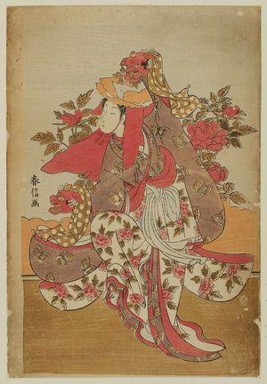 Suzuki Harunobu: The Lion Dance (Shakkyô) - Museum of Fine Arts