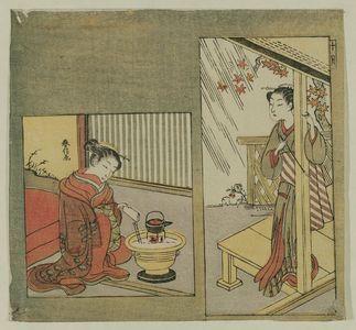 鈴木春信: The Tenth Month (Jûgatsu), from an untitled series of Twelve Months - ボストン美術館