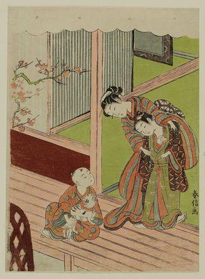 Suzuki Harunobu: Children with Cat and Mouse - Museum of Fine Arts