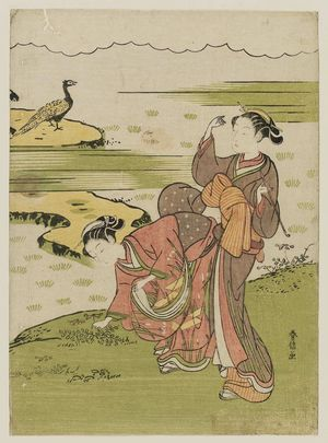 Suzuki Harunobu: Poem by Chûnagon Yakamochi, from an untitled series of Thirty-six Poetic Immortals (Sanjûrokkasen) - Museum of Fine Arts