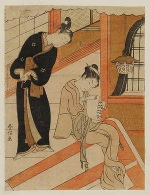 Suzuki Harunobu: Poem by Sanjô no in Onna Kurôdo Sakon, from an untitled series of Thirty-six Poetic Immortals (Sanjûrokkasen) - Museum of Fine Arts