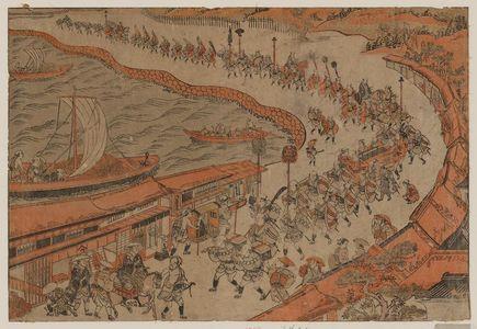 Nishimura Shigenaga: (Go Daimyo Gyoretsu Takanawa no Fukei) - Museum of Fine Arts