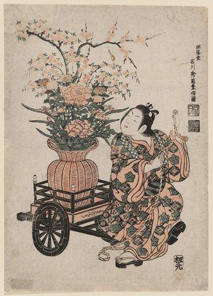 Ishikawa Toyonobu: Child with a Flower Basket - Museum of Fine Arts