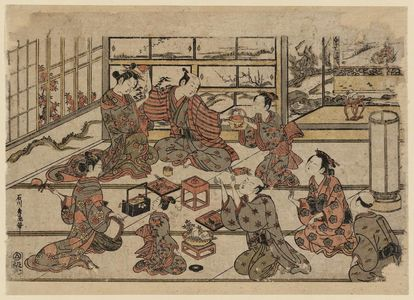 Ishikawa Toyonobu: A Drinking Party - Museum of Fine Arts