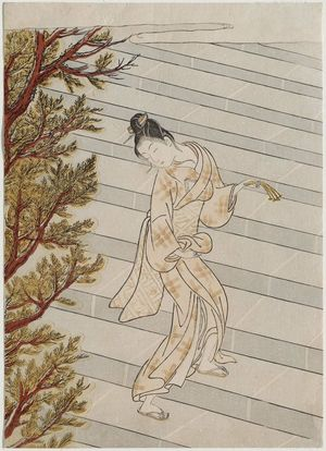 Suzuki Harunobu: Climbing the Stairs One Hundred Times - Museum of Fine Arts