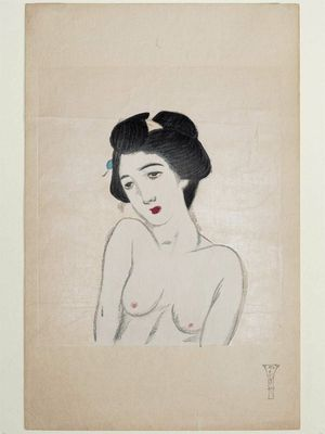 Takehisa Yumeji: Bust portrait of nude woman - Museum of Fine Arts