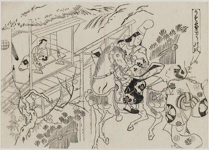 奥村政信: Usuyuki, the Kogô Scene (Usuyuki Kogô no dan), from the series Famous Scenes from Japanese Puppet Plays (Yamato irotake) - ボストン美術館