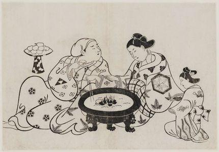 奥村政信: The Courtesan Takao and the Actor Ikushima Daikichi I - ボストン美術館