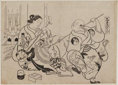 Okumura Masanobu: The Ninth Month (Kugatsu no tei), from an untitled series of Customs of the Pleasure Quarters in the Twelve Months - Museum of Fine Arts