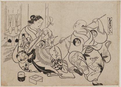 奥村政信: The Ninth Month (Kugatsu no tei), from an untitled series of Customs of the Pleasure Quarters in the Twelve Months - ボストン美術館
