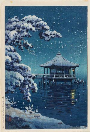 風光礼讃: Snow on the Ukimido at Katada (Yuki no Katada Ukimidô) - ボストン美術館