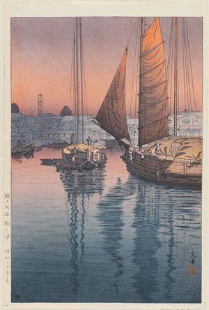 風光礼讃: Tomonotsu, from the series Inland Sea (Seto Naikai) - ボストン美術館