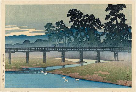 川瀬巴水: The Asano River in Kanazawa (Kanazawa Asanogawa), from the series Souvenirs of Travel I (Tabi miyage dai isshû) - ボストン美術館