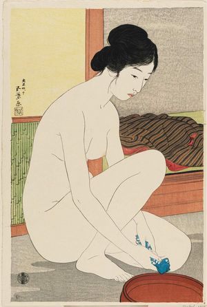 Hashiguchi Goyo: Nude Woman with Towel and Basin - Museum of Fine Arts