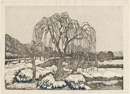 Oda Kazuma: Willows in Snow, Shinobazu - Museum of Fine Arts