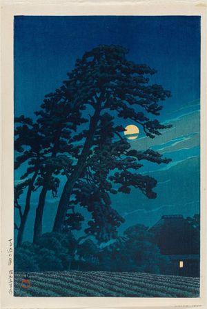 川瀬巴水: Moon at Magome (Magome no tsuki), from the series Twenty Views of Tokyo (Tôkyô nijûkei ) - ボストン美術館