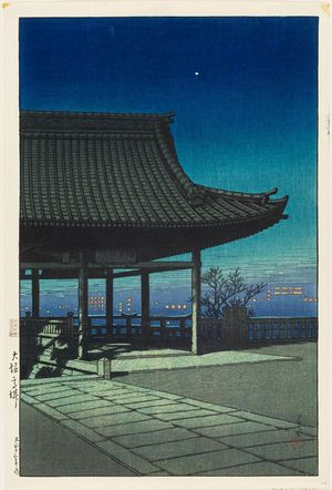 川瀬巴水: View from Takatsu in Osaka (Ôsaka Takatsu), from the series Souvenirs of Travel III (Tabi miyage dai sanshû) - ボストン美術館