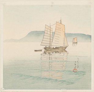 川瀬巴水: Morning at Takamatsu (Takamatsu no asa) - ボストン美術館