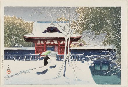 Kawase Hasui: Snow at Shiba Park, Tokyo (Shiba kôen no yuki) - Museum of Fine Arts