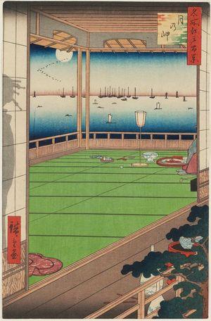 歌川広重: Moon-Viewing Point (Tsuki no Misaki), from the series One Hundred Famous Views of Edo (Meisho Edo hyakkei) - ボストン美術館