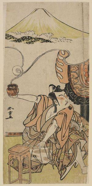 Katsukawa Shunsho: Actor Ichikawa Yaozô II as Soga no Gorô - Museum of Fine Arts
