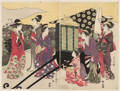 鳥高斎栄昌: Modern Version of the Yûgao Chapter of the Tale of Genji - ボストン美術館