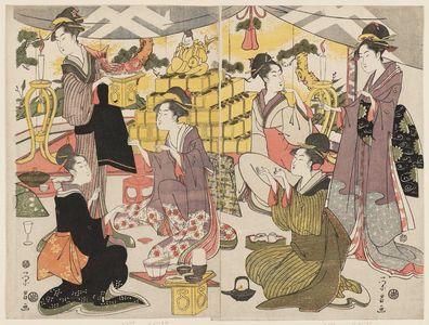 鳥高斎栄昌: Festival of Ebisu - ボストン美術館