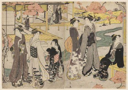 Hosoda Eishi: Hana no en, from the series Genji in Fashionable Modern Guise (Fûryû yatsushi Genji) - Museum of Fine Arts