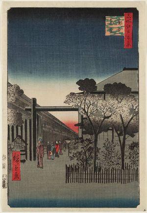 歌川広重: Dawn inside the Yoshiwara (Kakuchû shinonome), from the series One Hundred Famous Views of Edo (Meisho Edo hyakkei) - ボストン美術館