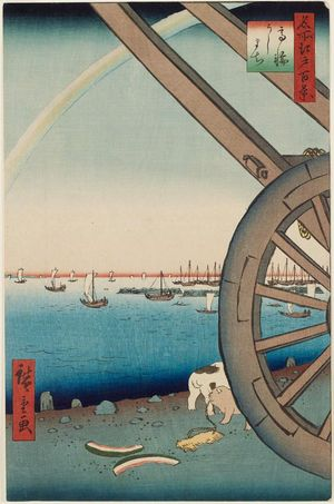 Utagawa Hiroshige: Ushimachi in the Takanawa District (Takanawa Ushimachi), from the series One Hundred Famous Views of Edo (Meisho Edo hyakkei) - Museum of Fine Arts