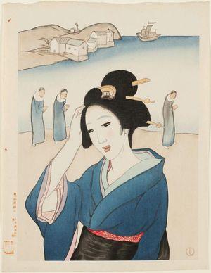 Takehisa Yumeji: Deshima from the series Twelve Views of Nagasaki (Nagasaki junikei no uchi) - Museum of Fine Arts