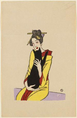 竹久夢二: Woman and Cat - ボストン美術館