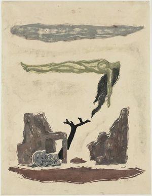 恩地孝四郎: Allegorie No. 2: Ruins (Haikyo) - ボストン美術館
