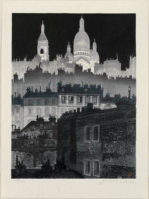 関野準一郎: Montmartre at Night - ボストン美術館