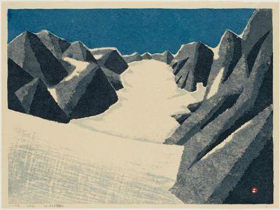 Azechi Umetaro: Glacial Snow - ボストン美術館