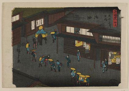 歌川広重: No. 35 - Goyu, from the series The Tôkaidô Road - The Fifty-three Stations (Tôkaidô - Gojûsan tsugi no uchi) - ボストン美術館