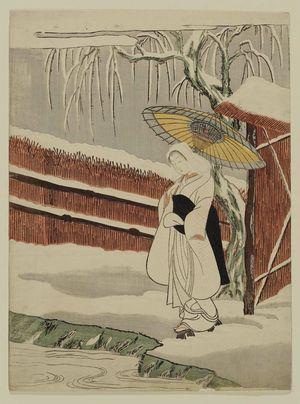 鈴木春信: The Heron Maiden (Sagi musume) - ボストン美術館