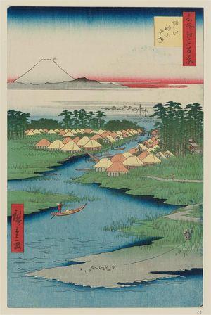 Utagawa Hiroshige: Horie and Nekozane (Horie Nekozane), from the series One Hundred Famous Views of Edo (Meisho Edo hyakkei) - Museum of Fine Arts