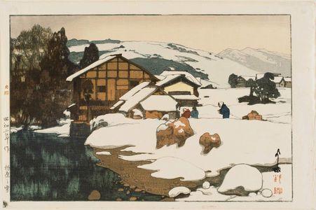 吉田博: Snow at Kashiwabara (Kashiwabara no yuki) - ボストン美術館