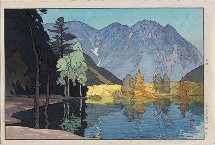 吉田博: Hodakayama, from the series Twelve Scenes in the Japan Alps (Nihon Arupusu jûni dai no uchi) - ボストン美術館